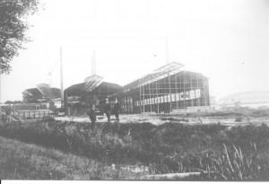 Bouwfase Demka-fabriek 1914