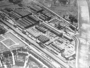 Luchtopname Werkspoorterrein te Zuilen rond 1930