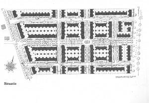 Het ontwerp van De Oude Bouw. Links de Amsterdamsestraatweg