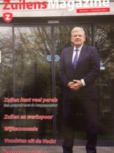 Met op de voorpagina burgemeester Jan van Zanen